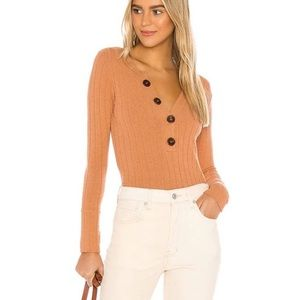 Free People Oliver Henley Top in Terracotta M